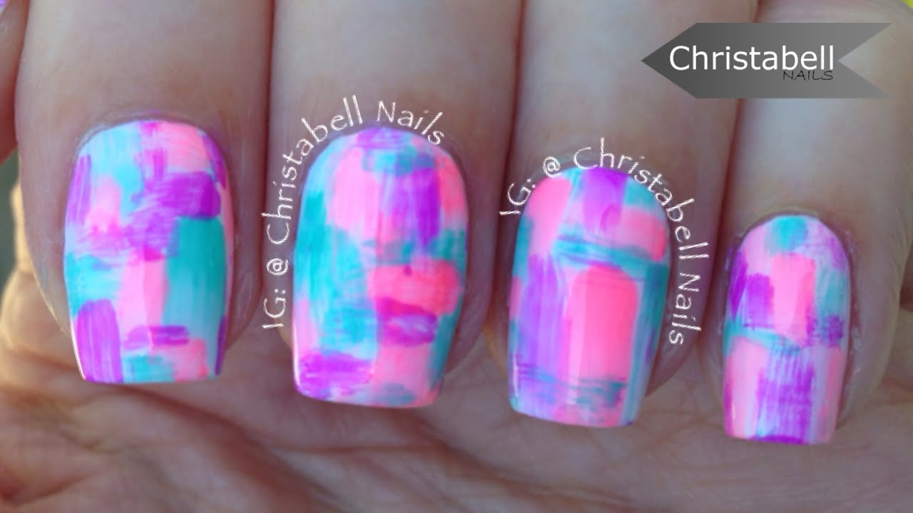 Chriellnails Dry Brush Nail Art Tutorial