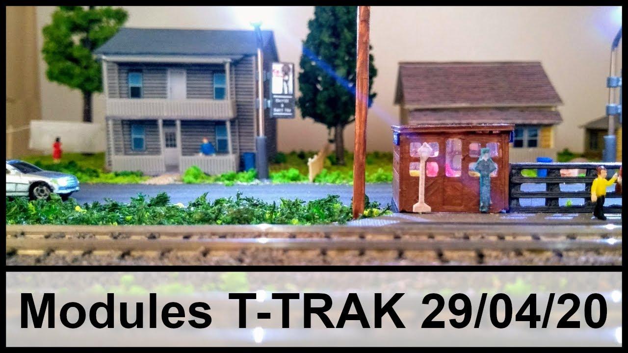 Mon réseau de modules T-TRAK au 29 avril 2020