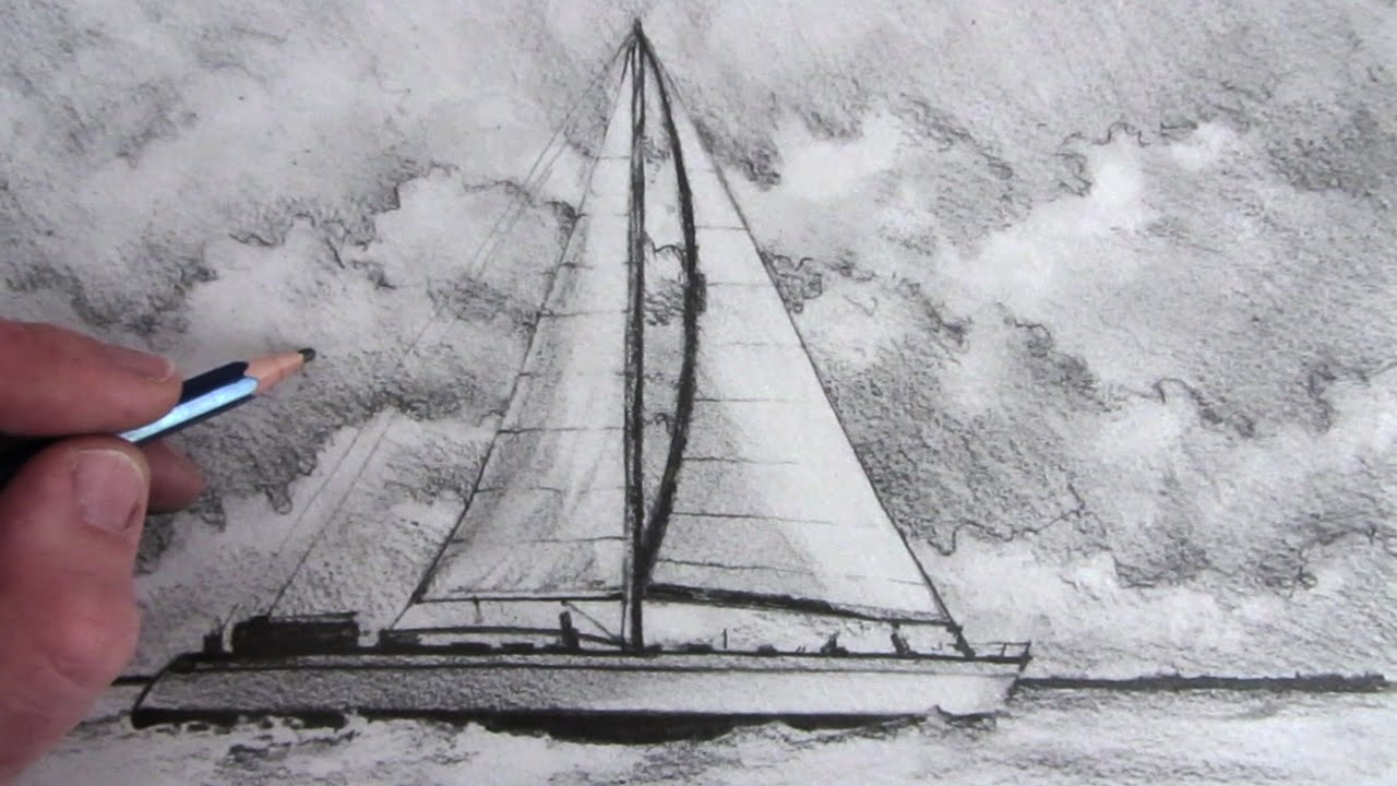How to draw a boat sailing boat youtube