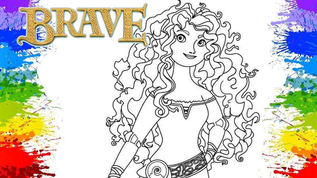 Desenhos Para Colorir Vestidos Princesa Merida Crayola Mess Free