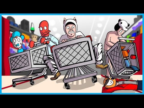 BLACK FRIDAY SHOPPING MADNESS!! - Garrys Mod Shopping Cart Hide and Seek Mod Funny Moments!