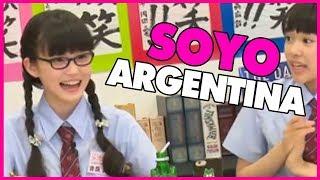 Yoshida Soyoka le enseña a Fujihira Kano como se dice Argentina, en...