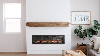 DIY Shiplap Electric Fireplace Build with Mantel | HGG Home Series