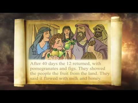 Jesusandkidzcom  The Story of Moses and the 12 Spies