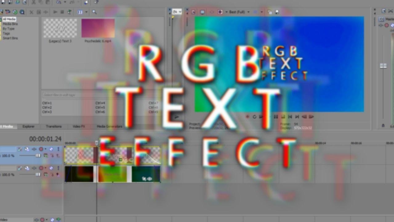 Как сделать движущийся текст в сони вегас фото 3