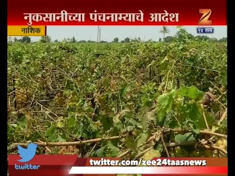 Nashik | Panchnama For Damage Caused To Fruit And Crop By Unseasonal Rain And Hailstorm