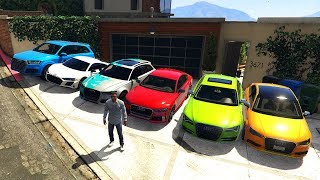 GTA 5 ✪ Stealing Luxury Audi Cars with Franklin ✪ (Expensive Real Life Cars)9