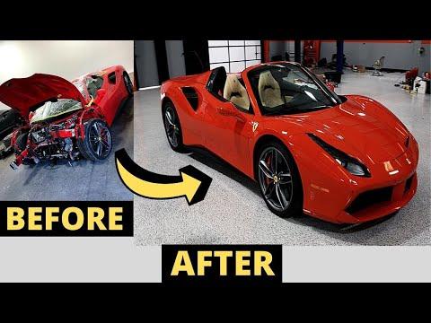 Surprising The Owner Of This TOTALLED Clean Title Ferrari!! – Ferrari 488 Spider FULL REBUILD!!