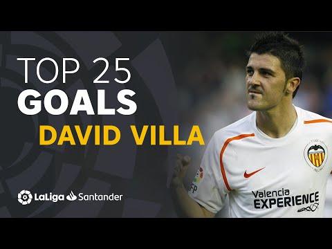 TOP 25 GOALS David Villa en LaLiga Santander