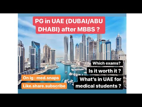 PG in UAE (Dubai/Abu Dhabi) after MBBS . TANSEEQ / EMREE / DRTP Exam . All about residency in 🇦🇪.