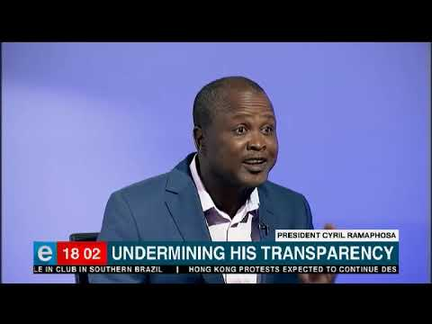 Ramaphosa undermining his transparency?