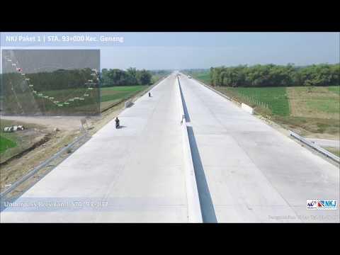Video Udara Pembangunan Paket 1 Ruas Ngawi Kertosono