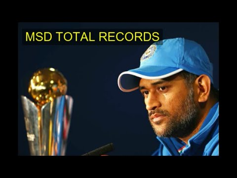 MS DHONI TOTAL RECORD BOOKS (MSD TOTAL RECORDS) #WE WILL GET IT BACK WCT20