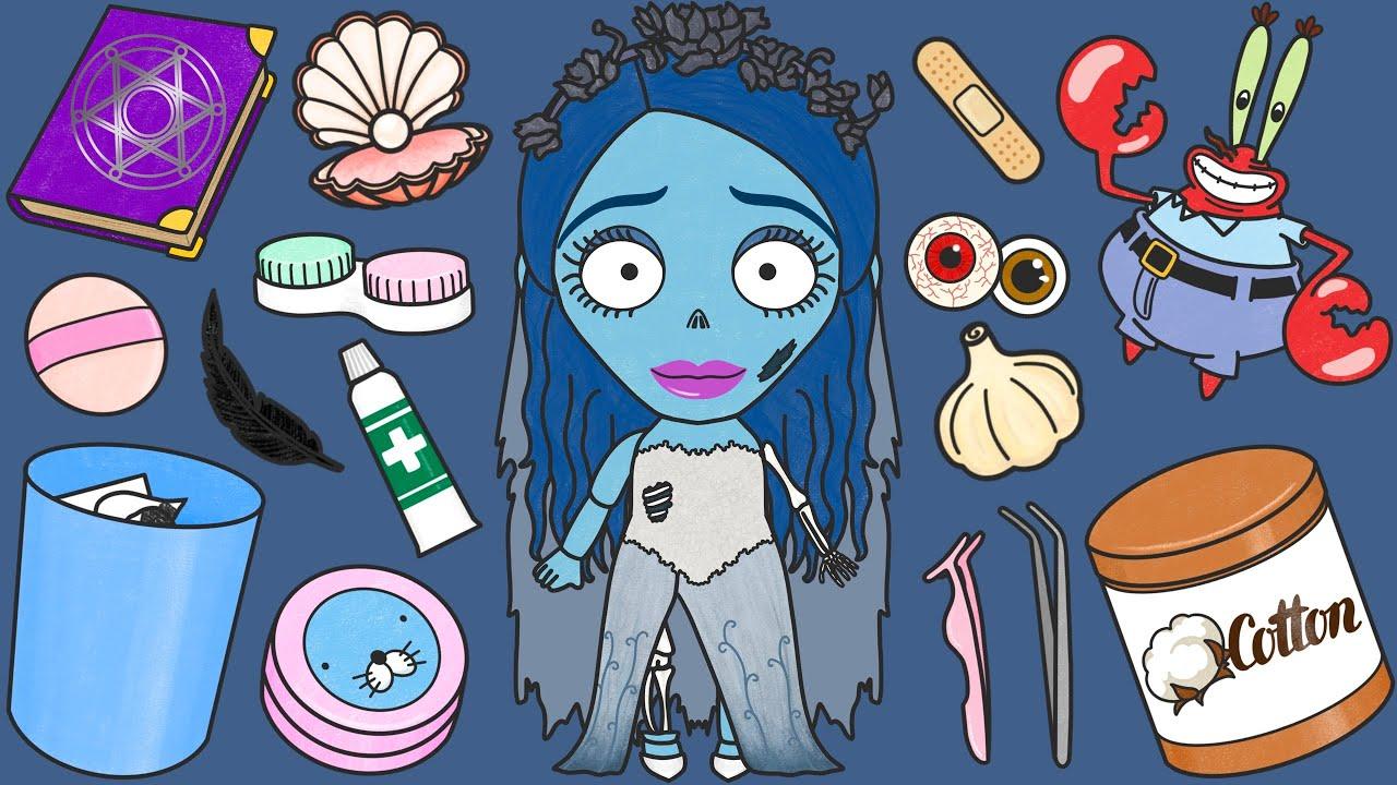 유령신부 인형 수리하기 스톱모션 Corpse Bride Doll Repair/Transformation/Cosmetic Surgery Stop Motion