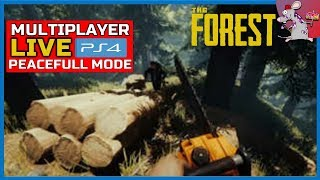 The Forest PS4 Crafting And Building - Peaceful Mode Multiplayer