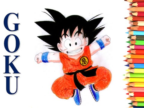 Goku Dragon Ball Dibujo Con Colores Escolares Y Sombreado Youtube