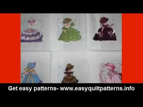 Fun Quilt Patterns Sunbonnet Sue Quilt Block Pattern YouTube Fascinating Sunbonnet Sue Patterns