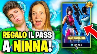 IF I AM REGALO THE PASS BATTLE to MY RAGAZZA on FORTNITE!!