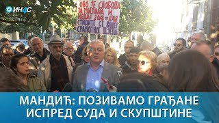 ИН4С: Андрија Мандић 'Нема правде кад мафија суди'