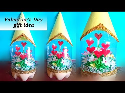 beautiful plastic bottle craft / handmade crafts for valentines day / valentine's day gift ideas