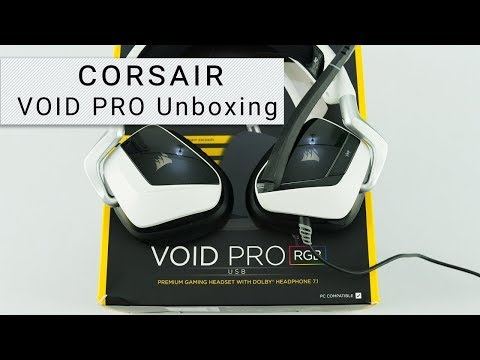 Corsair VOID PRO RGB USB Gaming Headset Unboxing - YouTube