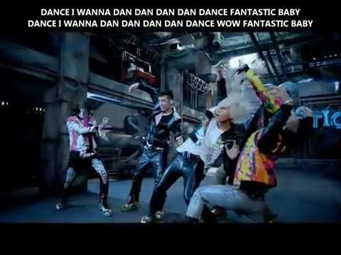 Big Bang - Fantastic Baby MV (romanized + hangul + english lyrics)