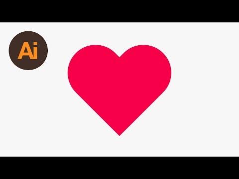 Learn How To Draw A Heart Shape In Adobe Illustrator | Dansky