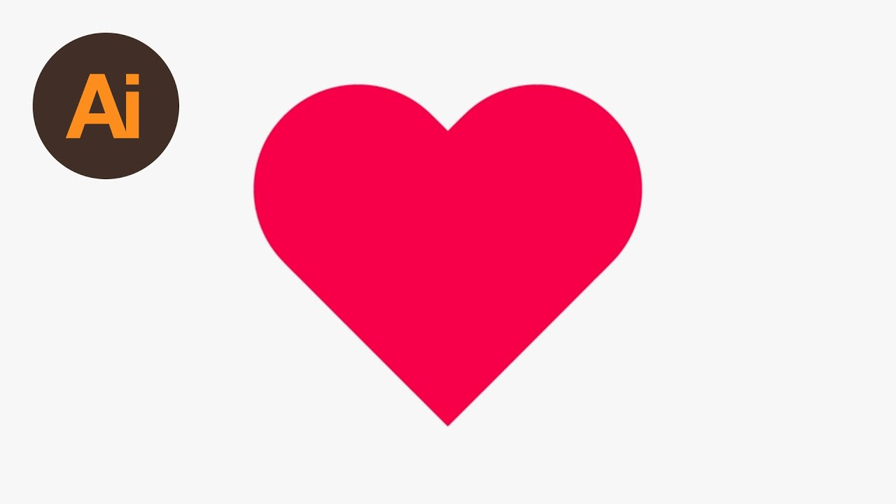 Learn How To Draw A Heart Shape In Adobe Illustrator Dansky Youtube
