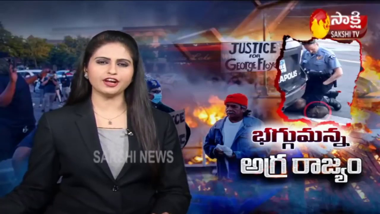 American riots   Protesters leave but looting continues in Los Angeles   Sakshi TV