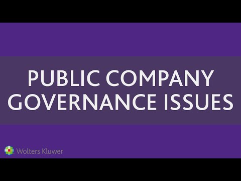 Public Company Governance Issues