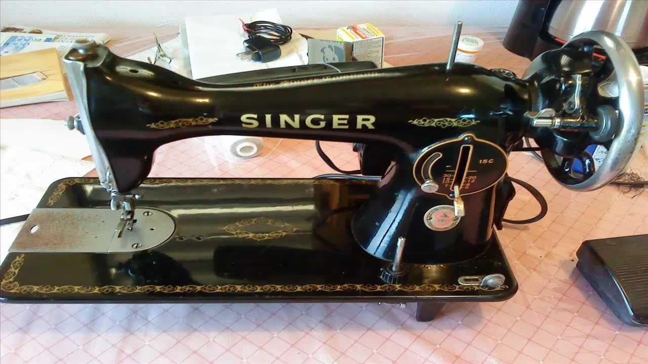 Maquina de coser singer la negrita - YouTube