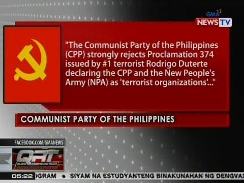 QRT: Pahayag ng Communist Party of the Philippines