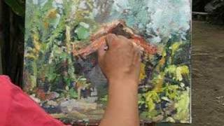 Singapore Outdoor Oil Painting Lesson Ng Woon Lam