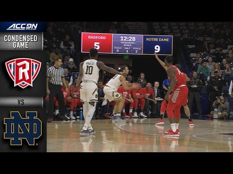 Radford vs. Notre Dame Condensed Game | 2018-19 ACC Basketball