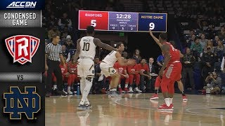 Radford vs. Notre Dame Condensed Game   2018-19 ACC Basketball