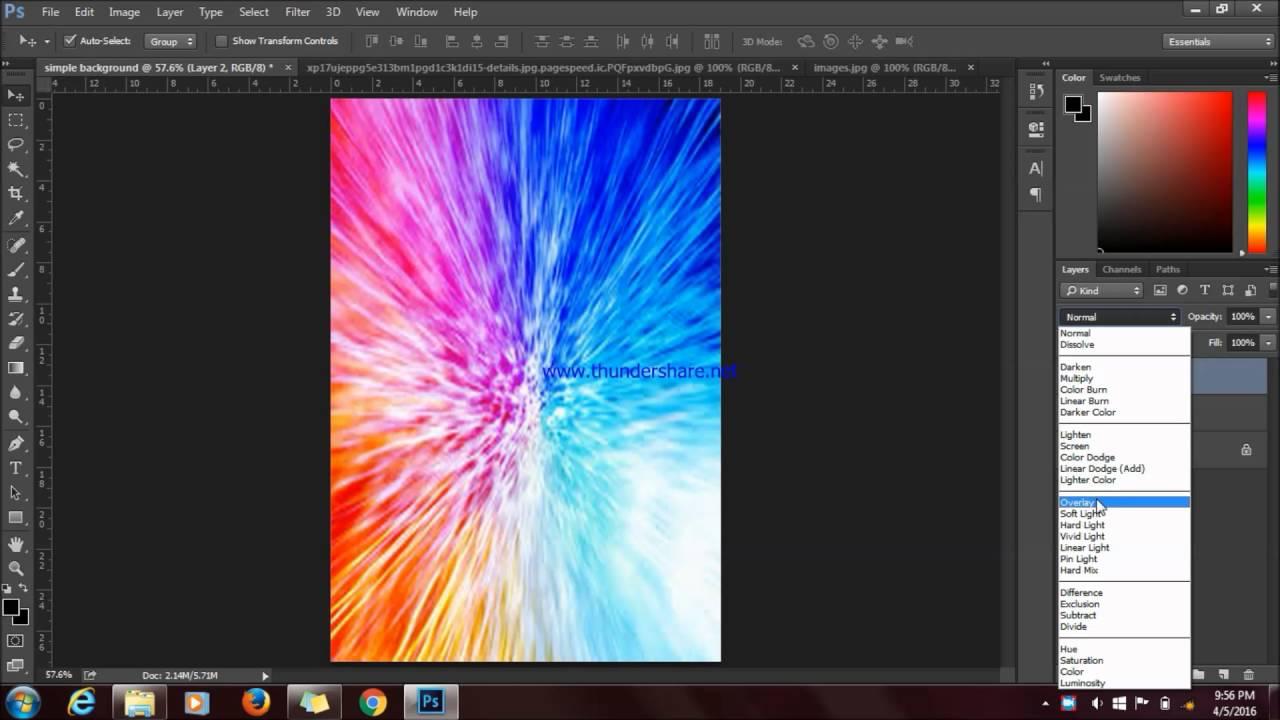 Simple Design Background Poster Adobe Photoshop CS6