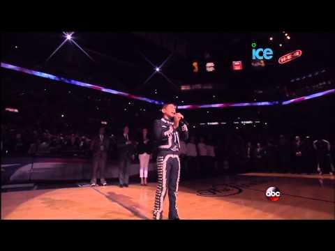 Mexican Charro Sebastien De La Cruz Sings National Anthem @ NBA Finals