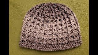 The Waffle Stitch Hat Crochet Tutorial!