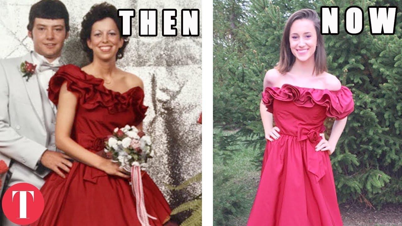 15 тинејџерки кои ги носеа матурските фустани на нивните мајки децении подоцна