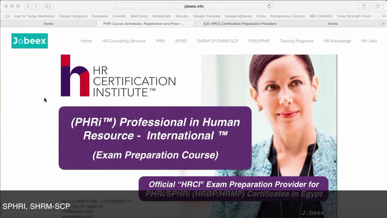 Phri Exam Preparation Course Details