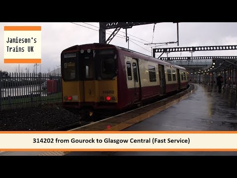 314202 from Gourock to Glasgow Central Fast Service