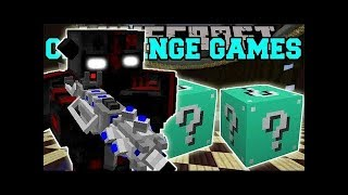 PopularMMOs Pat and Jen Minecraft: OUTCAST CHALLENGE GAMES - Lucky Block Mod - Modded Mini-Game