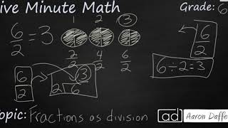 6th Grade Math Fractions as Division