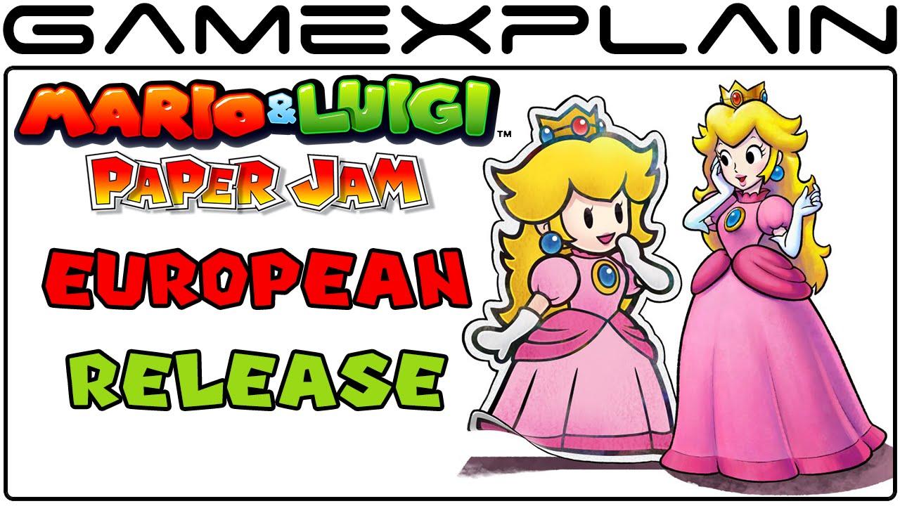 Mario Luigi Paper Jam European Release Date Announced Youtube
