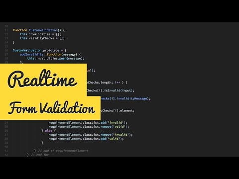 Realtime Form Validation