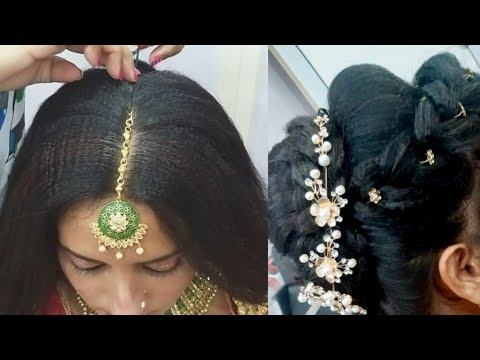 जुड़ा  hairstyle/ party/ wedding/ perfect bridal hairstyle( step by step easy and simple) thumbnail