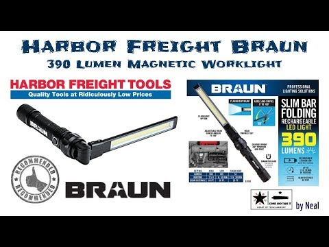 Harbor Freight Braun Work Light   An Upgrade Over Corded Work Lights