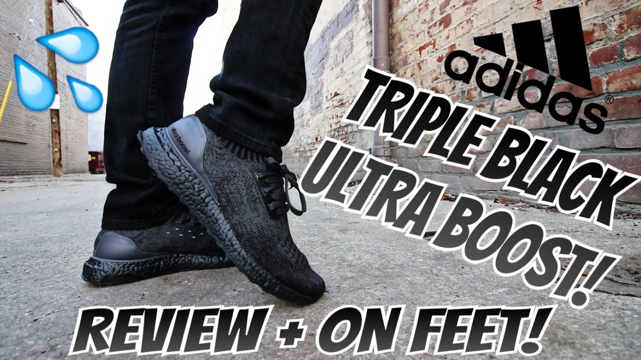 9ca2da1d71a8b1 ... discount code for adidas triple black ultra boost uncaged review on feet  youtube 17b7e 1c05e