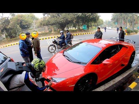 Lamborghini STOPPED by COPS