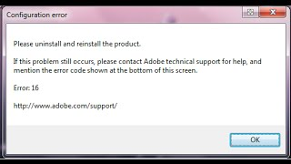 Fix| Error 16 in all adobe products